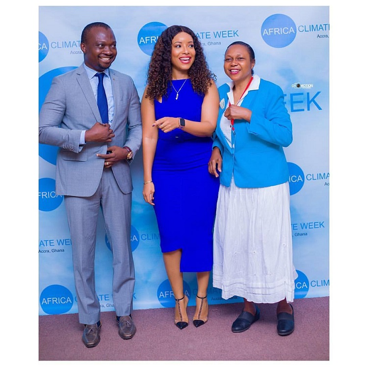 Joselyn Dumas-blue-dress-africa-climate-week-1