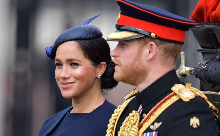 Meghan Markle Givenchy Dress Navy Givenchy at Trooping the Colour 2019