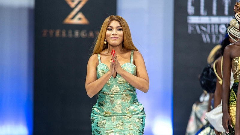 Inside Actress Zynnell Zuh's Intimate Collection Debut At Glitz Africa Fashion Week