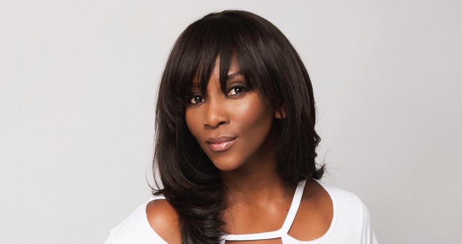 Genevieve Nnaji Green Short Bob Hairstyle