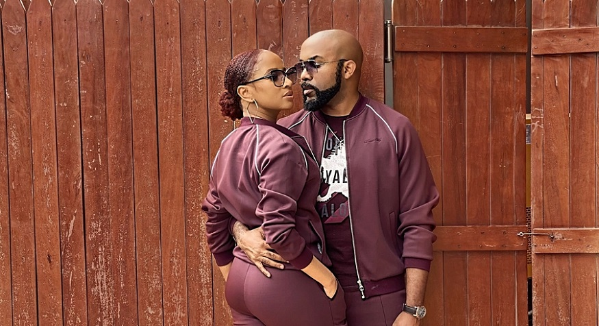 Adesua Etomi and Banky W Matching-david-wejtracksuit
