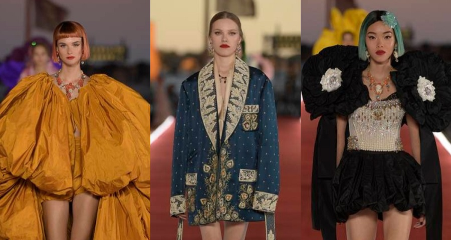 Dolce Gabbana 2021 Alta Moda Show ST Marks Square Venice