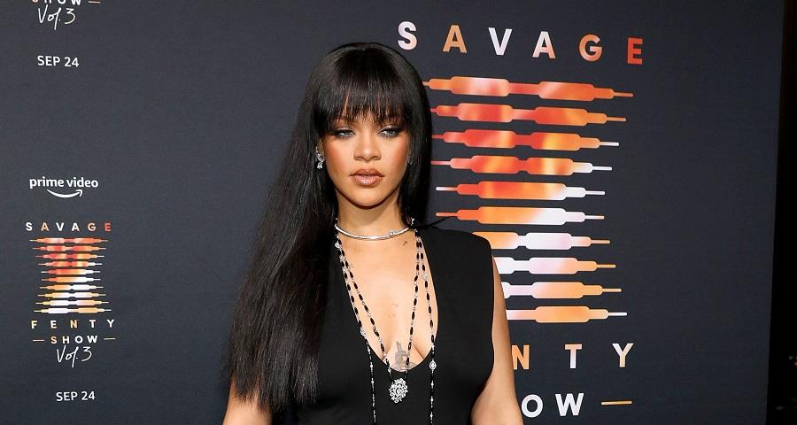 Rihanna Wearing a Mini Skirt at Savage x Fenty Show Vol3 Premiere