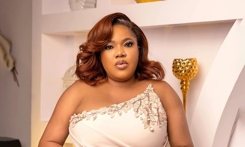 Toyin Abraham Shimmering Purple Gown Ghost and Tout Movie Premiere