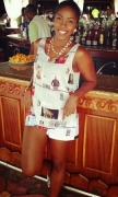She Got It All. Tiwa Savage Look Amazing in Newspaper Outfit in Mauritius (Photos)