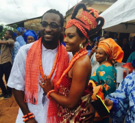 We're Lusting Over The Blue Traditional Attire! Osas & Gbenro Ajibade's traditional wedding First Photos