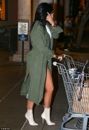 Kylie Jenner Wears ONLY Pants and Stilleto Boots To A Grocery Store