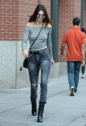 Kendall Jenner Is Runway & Fall Ready in Off-the-Shoulder Sweater