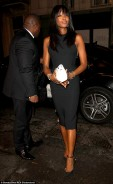 Supermodel Naomi Campbell Amps-Up The Glamour in Figure-Hugging LBD