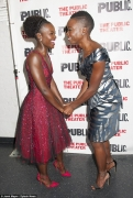 You Have To See Lupita Nyong'o Gorgeous Red Tulle Dress at the Opening Night of Eclipsed Play