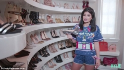 Kylie Jenner Shows Off Her Shoe closet, And It's Like A Shoe Mall
