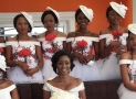 This Bride's Wedding Gown Is Breathtaking But Her Bridesmaids Will Have You Falling Hard