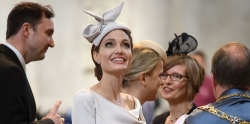 Angelina Jolie Embraced The Duchess Style In Ralph & Russo Dress At A Royal Event In London
