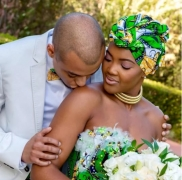 Forget White Wedding Gown; This South African Couple Wore Ankara On Their Wedding Day