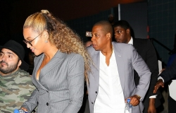 Beyonce and Jay Z Just Twinned In Grey Suits