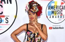 Cardi B Was All About Colorful Floral Dress At American Music Awards