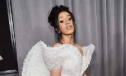 Cardi B Actually Wore An Angelic Dress At The Grammy Awards