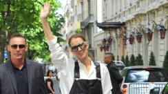 Celine Dion Went Into The Street Of Paris In Leather Overalls Like A Style Star