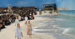 Chanel Transformed Its Runway Into A Real Beach For Its SS19 Show