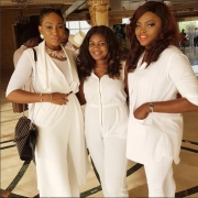 Funke Akindele And Ebube Nwagbo Made An All-White Outfit Look Cool