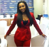 Genevieve Nnaji Shows Us All The Right Way To Wear A Bold Red Blazer