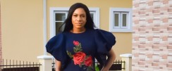 Chika Ike Makes A Plain All-Blue Look Chic