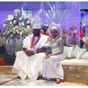 See the Aso Ebi Celebs & Others Wore to Dolapo Oni & Gbite Sijuwade's Trad Wedding