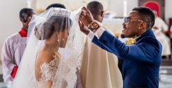 Ex-Beauty Queen Iheoma Nnadi Married Her Footballer Husband In 2 Stunning Wedding Gowns