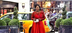 Jackie Appiah Wore A Romantic, Floor-Kissing Red Dress To An Award Show Last Night