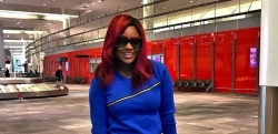 Jackie Appiah Cuts A Stylish Figure In A Blue Sweatshirt