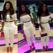 Jackie Appiah Is Already Wearing Her Own Version Of Off-The-Shoulder Trend
