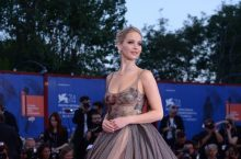 Jennifer Lawrence Looks Gorgeous In A Polka Dot Gown At Venice Film Festival