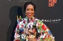 Joselyn Dumas Had A Stylish Moment In A Floral Dress At LA Film Festival