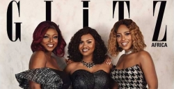 Joselyn Dumas, Yvonne Okoro & Ama McBrown Looks Chic On The Cover Of Glitz Africa Magazine