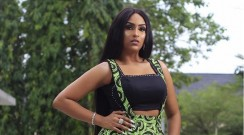 Juliet Ibrahim Wears Ankara Pinafore Pants That Are Way Too Coveted