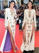 PHOTO: Isn't Kendall Jenner Too Young To Rock Double Thigh High Slit Dress??