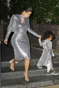Kim Kardashian Twinned A Sequin Dress With Baby North West And It's Adorable