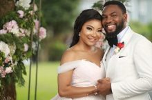 Linda Ejiofor Wore A Beautiful Off-The-Shoulder Dress For Her White Wedding