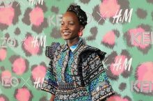 Lupita Nyong'o Looks Pretty In The New Kenzo x H&M Heavily Printed Dress