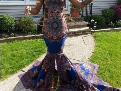 This Teen Broke Teacher's Prom Fashion Rule And Wore A Gorgeous African Prints That's Going Viral