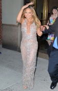 Mariah Carey Wore A Sheer Nude Naked Dress That Left Little To The Imagination