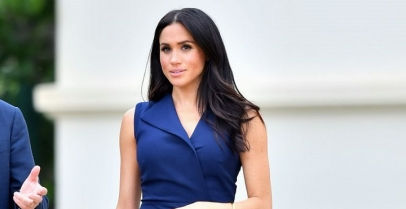 Meghan Markle Took Melbourne In A Chic Navy Sleeveless Dress