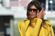 Melania Trump Wore A Yellow Outfit In The Chicest Way Ever