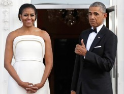 Michelle Obama's Dress To State Dinner Is Too Good To Handle