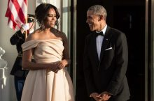 Michelle Obama Just Wore The Most Flattering Off-The-Shoulder Dress Ever