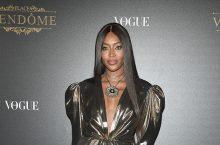 Naomi Campbell Showed Off Her Long Supermodel Legs In A Little Gold Metallic Dress