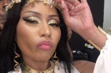 Nicki Minaj Looks Like A Roman Goddess Dripping In Gold Accessories
