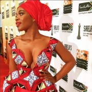 This SA Actress Nomzamo Mbatha Wore Ankara Like You've Never Seen Before