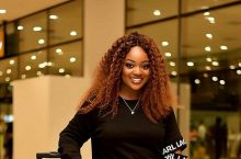 Jackie Appiah Looks Sexy In An Off-The-Shoulder Dress