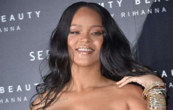 Rihanna Just Dialled Up The Glamour In A Black Leather Minidress